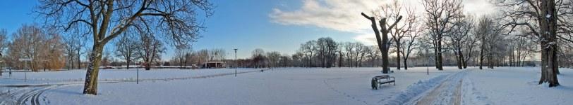 Panorama Kulturpark im Schnee