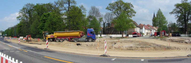 Kreuzung Große Wollweberstrasse / Ring wird erneuert
