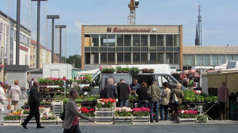 Wochenmarkt in Neubrandenburg