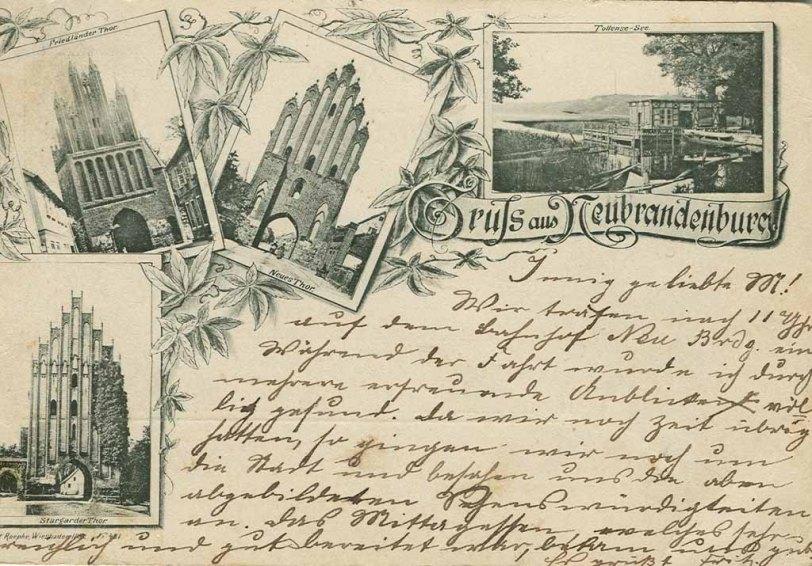 alte Ansichtskarte aus Neubrandenburg 1893