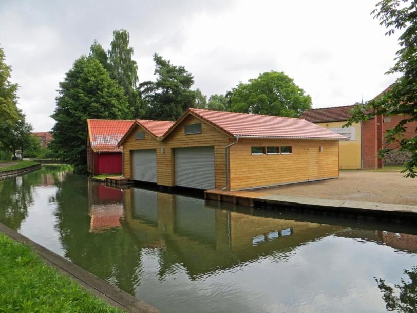 SCN Kanu Rennsport - Neues Motorbootshaus am Oberbach in Neubrandenburg