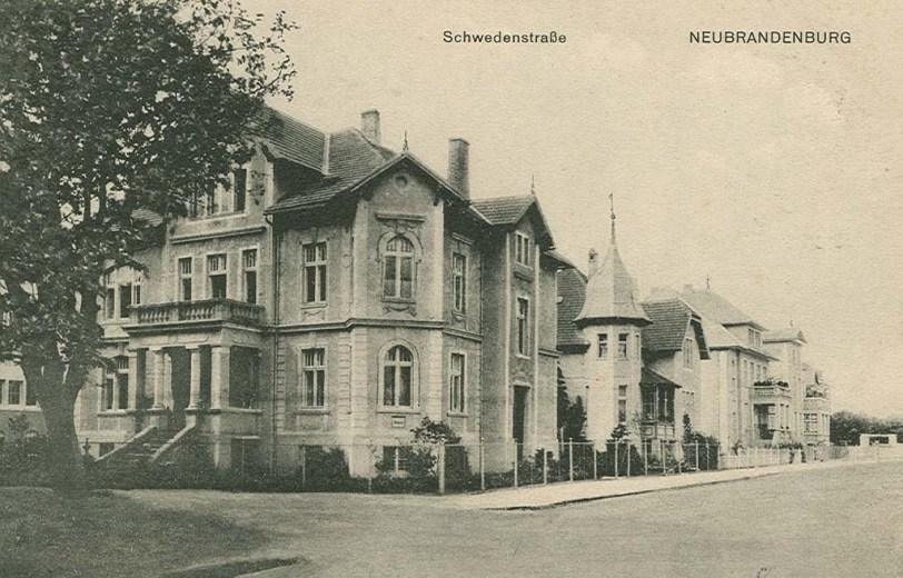 Schwedenstrasse in Neubrandenburg - Alte Ansichtskarte 1917