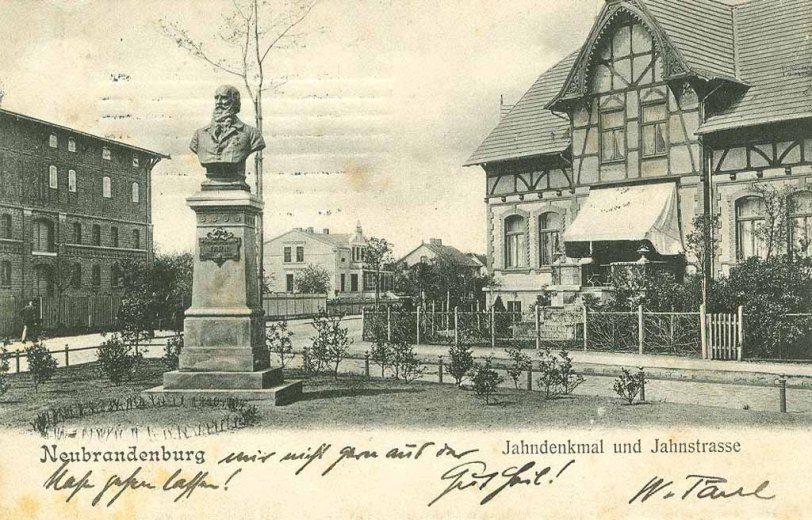 Alte Ansichtskarte Jahndenkmal in Neubrandenburg von 1905