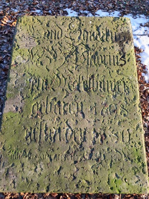 Pistorius Grabplatte in Neubrandenburg