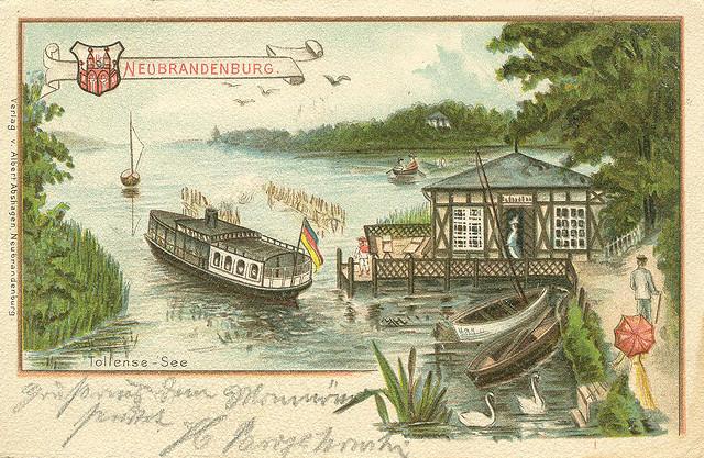 Alte Ansichtskarte Tollensesee in Neubrandenburg
