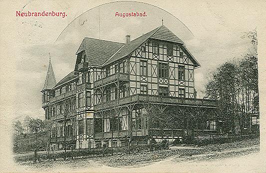 Alte Ansichtskarte Augustabad in Neubrandenburg