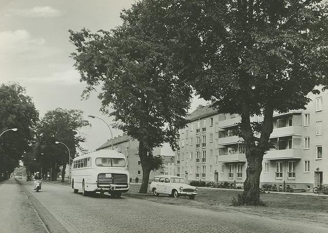 Alte Ansichtskarte Neustrelitzer Strasse in Neubrandenburg