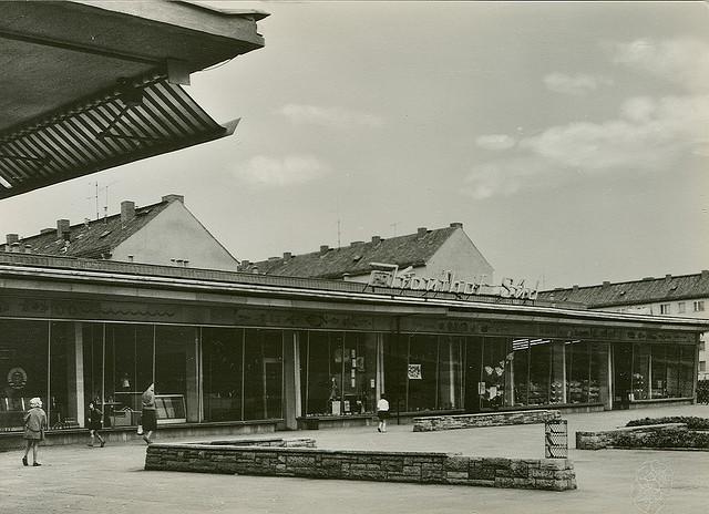 Alte Ansichtskarte Kaufhof Süd in Neubrandenburg