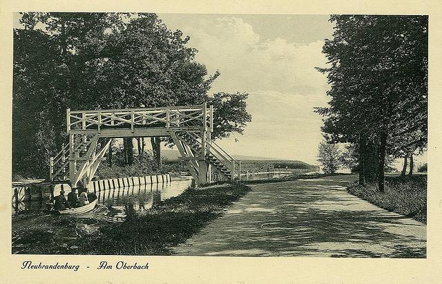Alte Ansichtskarte Oberbach in Neubrandenburg