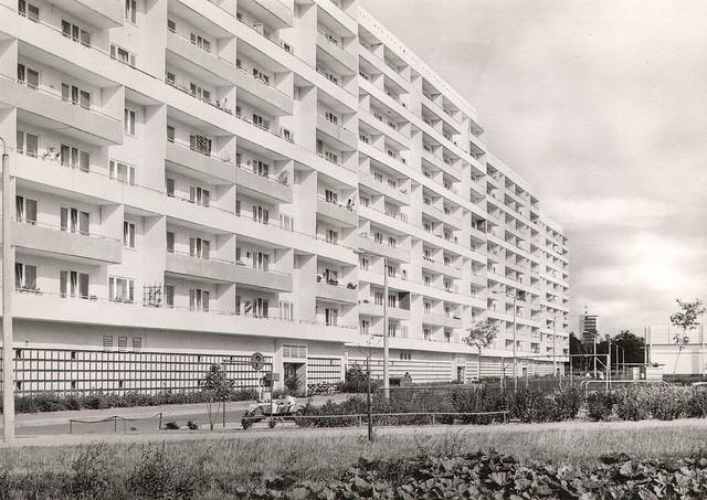 Alte Ansichtskarte Leninstrasse in Neubrandenburg