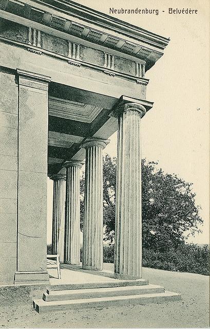 Alte Ansichtskarte Belvedere in Neubrandenburg
