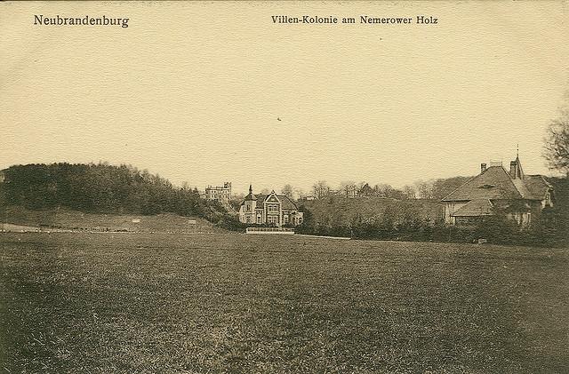 Alte Ansichtskarte Nemerower Holz am Tollensesee in Neubrandenburg