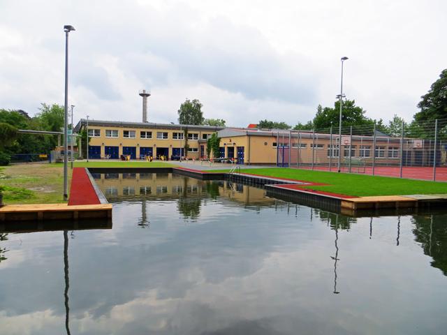 Kanu Einstiegsbecken am Oberbach in Neubrandenburg