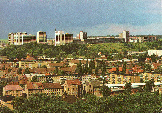 Alte Ansichtskarte Ihlenfelder Vorstadt und Datzeberg in Neubrandenburg