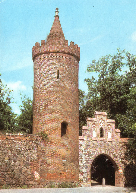 Alte Ansichtskarte Fangelturm in Neubrandenburg