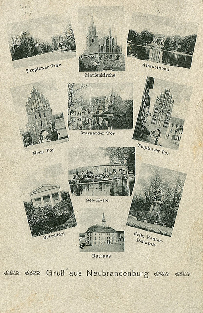 Alte Ansichtskarte Mehrbild aus Neubrandenburg