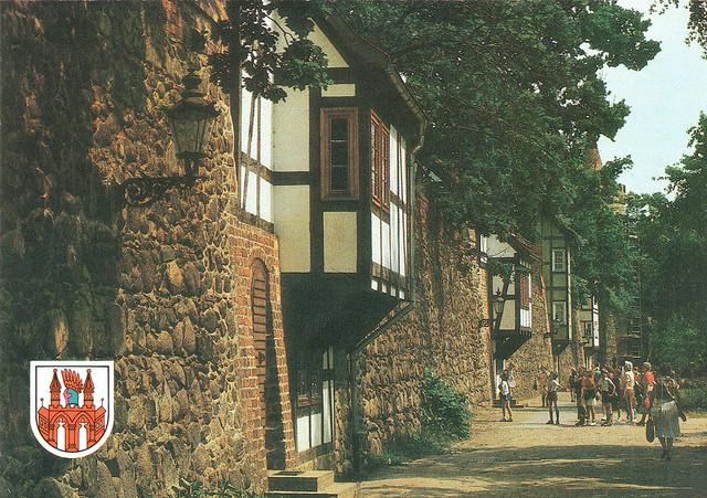 Alte Ansichtskarten Stadtmauer und Wiekhäuser in Neubrandenburg