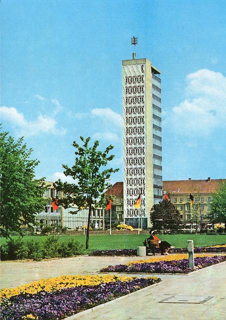 Alte Ansichtskarte HKB Kulturfinger in Neubrandenburg