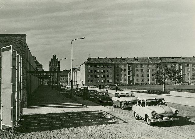 Alte Ansichtskarte Treptower Strasse in Neubrandenburg