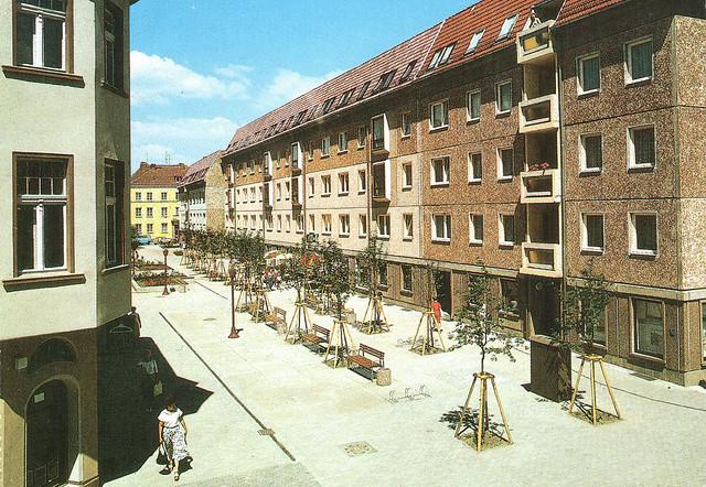 Alte Ansichtskarte Behmenstrasse in Neubrandenburg