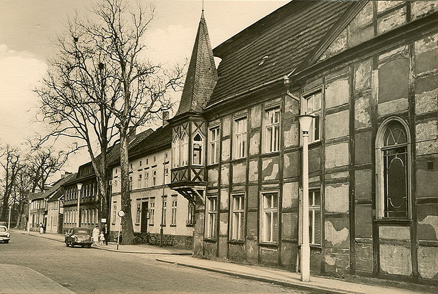 Alte Ansichtskarte Pfaffenstrasse in Neubrandenburg