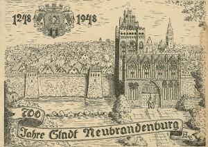 Alte Ansichtskarte 700 Jahre Neubrandenburg