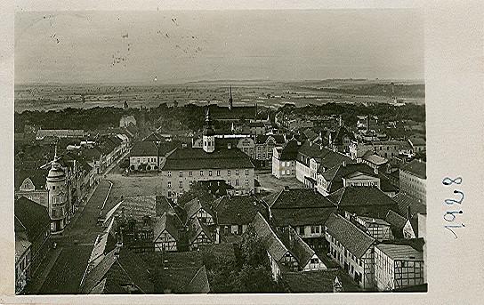 Alte Ansichtskarte Luftbild Neubrandenburg