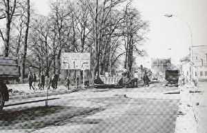 Bau des Engel-Rings in Neubrandenburg 1972