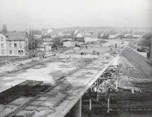 Bau Brücke 10.Jahrestag in Neubrandenburg
