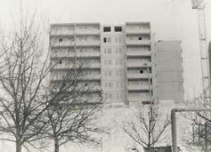 Neubrandenburg Datzeberg - Hochhaus im Bau