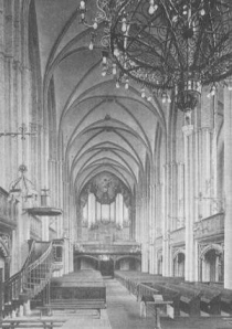 Marienkirche in Neubrandenburg Innenansicht um 1920