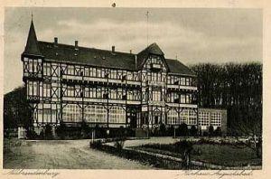Alte Ansichtskarte Hotel Augustabad in Neubrandenburg um 1910