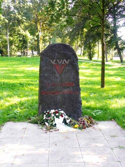 VVN-Gedenkstein auf dem Wall in Neubrandenburg