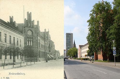 Now & Then - Neubrandenburg, Eisenbahnstrasse  Stargarder Strasse_3699958419_m