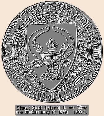 Siegel Fürst Heinrich II. der Löwe von Mecklenburg