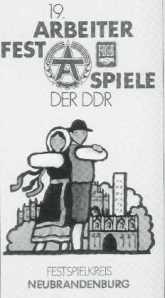 Arbeiterfestspiele 1982 in Neubrandenburg