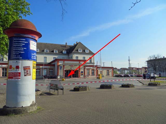 Grosseinsatz wegen Koffer am Bahnhof in Neubrandenburg