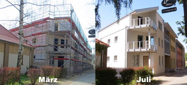 Neues Wohnhaus an der Stadtmauer in Neubrandenburg