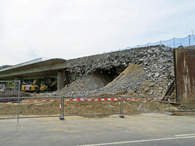 Abriss der Hochstrasse in Neubrandenburg