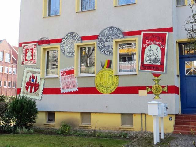 Wandbild über Neubrandenburg beim Sammlerdienst Jäger