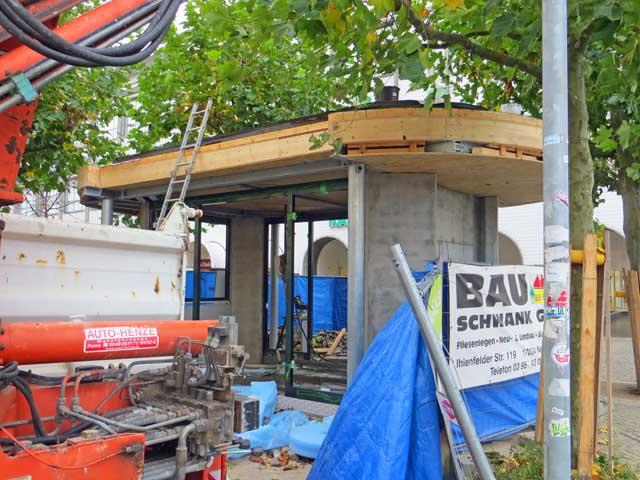 Neuer Pavillon in der Turmstrasse in Neubrandenburg nimmt Form an