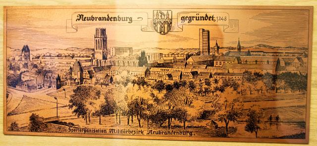 DDR Kupferbild Sportorganisation Militärbezirk Neubrandenburg