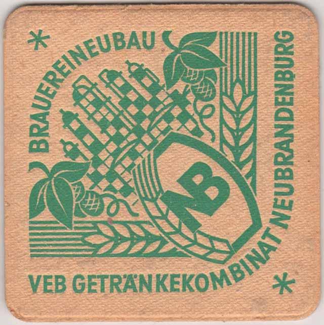 Alter DDR Bierdeckel VEB Getränkekombinat Neubrandenburg