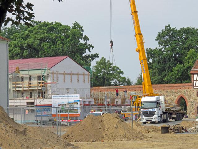 Baustelle - Wohnquartier Kleine Fischerstraße am Tretpower Tor in Neubrandenburg