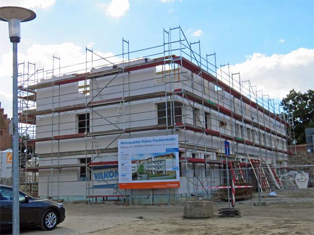 Baustelle – Wohnquartier Kleine Fischerstraße am Tretpower Tor in Neubrandenburg