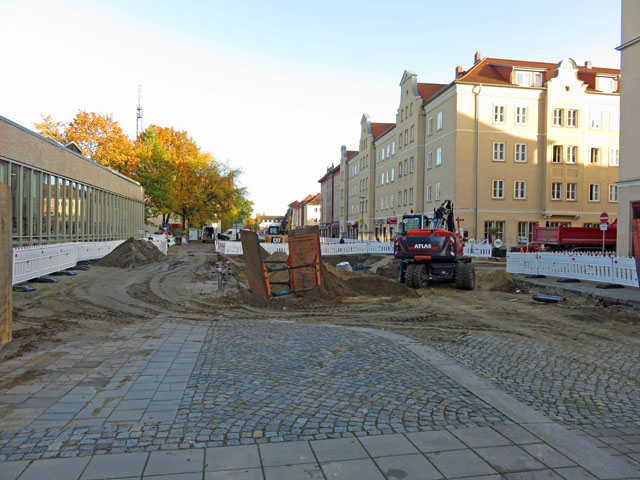 Baustelle - Stargarder Strasse in Neubrandenburg